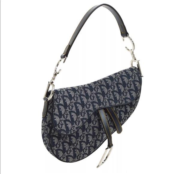Dior Handbags - Auth vintage Dior Saddle Bag RARE